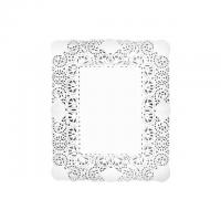 Rodal rectangular blanco 27x34 cm