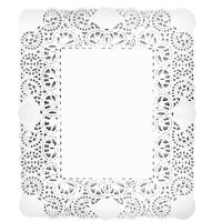 Rodal rectangular blanco 40x50 cm