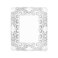 Rodal rectangular blanco 30x40 cm